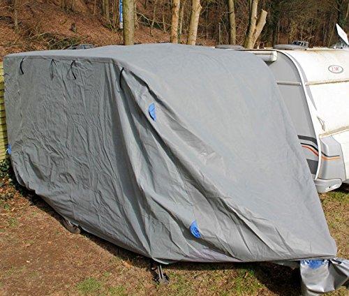 Wohnwagen Abdeckplane Ganzgarage Schutzhülle Plane Caravan Cover Schutzhaube (XL - 6,7 m Länge)