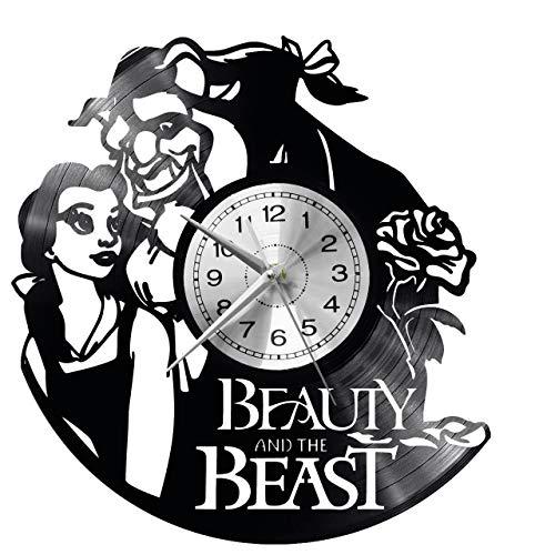 das Biest Wanduhr Vinyl Schallplatte Retro-Uhr groß Uhren Style Raum Home Dekorationen Tolles Geschenk Uhr ()