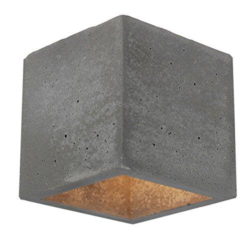 Spot-Light Wandleuchte Block - moderne Beton Design- Wandlampe (Würfel)