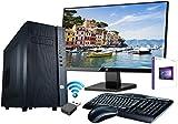 "SNOGARD Office-PC Komplett Set / Bundle / AllinONE   Desktop PC inkl. Windows 10 Home, 24"" HP Full HD Monitor, Wireless Maus und Tastatur, WLAN Adapter   Multimedia Computer - INTEL i5-8500 6x3.00 GHz, 8GB RAM, 480GB SSD, Intel HD Graphics"
