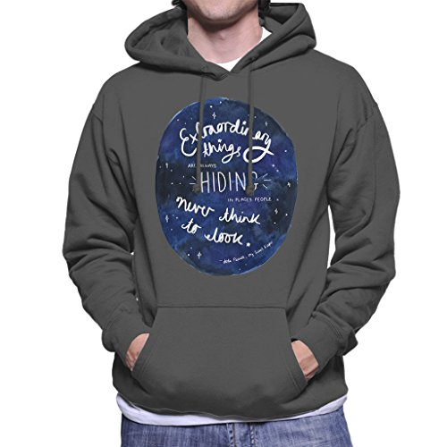 Jodi Picoult Quote My Sisters Keeper Extraordinary Things Men's Hooded Sweatshirt