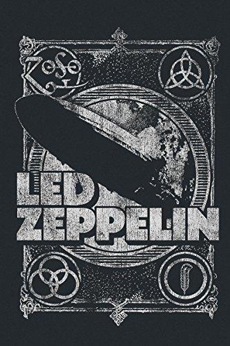 Led Zeppelin Shook Me T-shirt Femme noir Noir