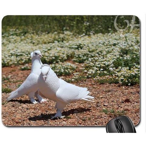 Bianco Piccioni Mouse Pad, Mousepad (Uccelli Mouse Pad)