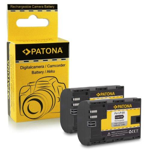 2x Batteria LP-E6 per Canon EOS 5D Mark II / 5D Mark III | EOS 7D | EOS 60D / 60Da