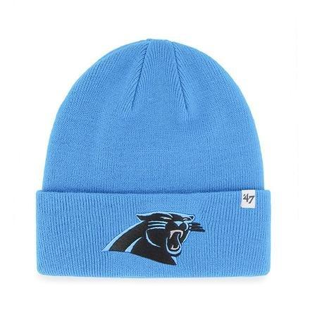 Fußball-fußball-beanie-mütze (47Brand Team Farbe Cuff Beanie Mütze-NFL Cuffed Fußball Winter Knit Toque Gap, Herren unisex damen, Carolina Panthers - Glacier)