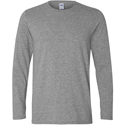 Gildan Mens Soft Style Long Sleeve T-Shirt produced by Gildan - quick delivery from UK
