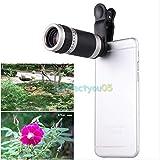 FidgetFidget Universal-Teleskop, 8-facher Zoom, HD optisches Objektiv für iPhone Sansung Handy Kamera