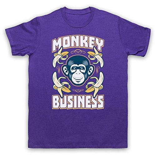 Monkey Business Funny Herren T-Shirt Violett