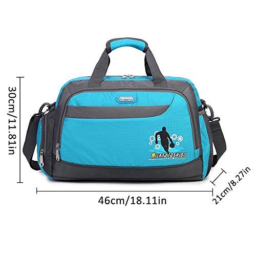 Soradoo Sporttasche 20L Teamtasche Handtasche Umhängetasche mit Abnehmbarer Schultergurt Blau