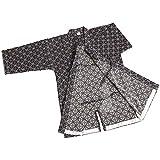 ZooBoo Herren Kendo Kampfkunst Uniform - Traditionelle Japanische Kampfkunst Kendogi Aikido Karate Ninja Training Kleidung Keikogi Karos Hemd Jacke für Männer Frauen - Baumwolle (Dunkelblau, XXL/185)