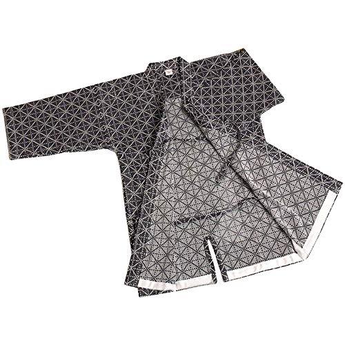 G-like Herren Kendo Kampfkunst Uniform - Traditionelle Japanische Kampfkunst Kendogi Aikido Karate Ninja Training Kleidung Keikogi Karos Oberhemd Jacke für Männer Frauen - Baumwolle (Dunkelblau, M)