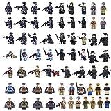 BOROK 62 Pièces Mini Figurines Militaires SWAT Soldat Bricks Jouet Blocs de Construction Figurines de l'Armée
