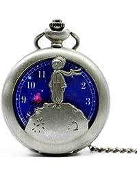 Grey : 2016 New Arrival The Little Prince Bronze Quartz Pocket Watch Analog Pendant Necklace Mens Womens Kids...