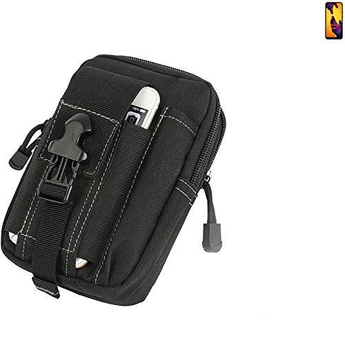 K-S-Trade Gürtel Tasche für Huawei P20 Lite Dual-SIM Gürteltasche Schutzhülle Handy Hülle Smartphone Outdoor Handyhülle schwarz Zusatzfächer