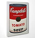 FINE ART - Andy Warhol 'Campbells' - Quadro in tela canvas pronto da appendere - Spessore telaio 2cm, 50cmx70cm