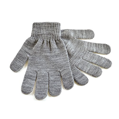 RJM Damen Strick-Handschuhe Magic Gloves One Size Gr. One size, grau (Gloves Damen Magic)