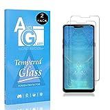 LG G7 ThinQ Displayschutzfolie, SONWO HD Displayschutzfolie Panzerglas Schutzfolie für LG G7 ThinQ Gehärtetes Glas Schutzfolie, 2 Stück