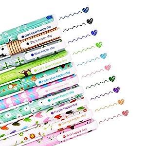SITAKE - 10 bolígrafos lindos,