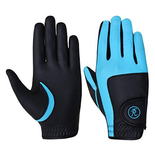 Riders Trend 10060259Reithandschuhe Mädchen S Noir/Bleu Turquoise