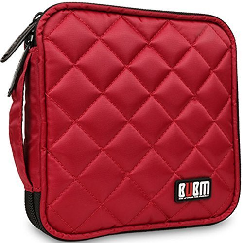 32 Kapazität CD / DVD-Tasche, 230D Space Twill Cover - Rot