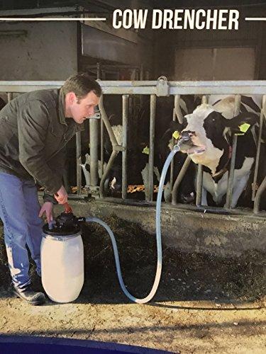 Cow Drencher mit 25 Liter Fass und Pumpe - Rinder Kühe