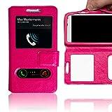 Schutzhülle Pink für Vernee Apollo Lite Hülle Flipcase Case Tasche Kunstleder