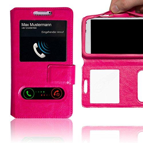 Schutzhülle Pink für TP-Link Neffos X1 Max Hülle Flipcase Case Tasche Kunstleder