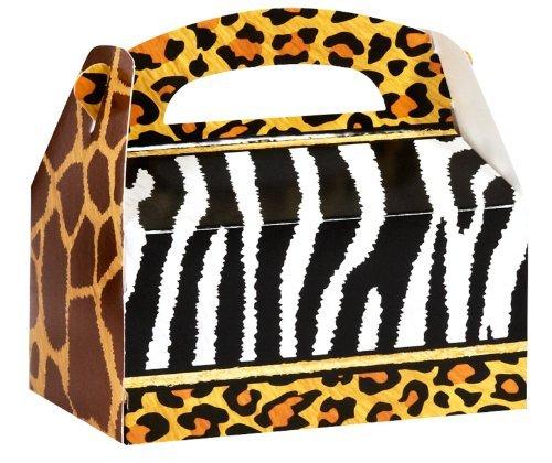 Safari Animal Adventure Party Empty Favor Boxes (4) by BirthdayExpress
