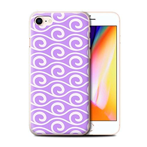 Stuff4 Hülle / Case für Apple iPhone 8 / Multipack / Wellenmuster Kollektion Violett
