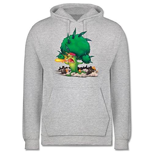 Comic Shirts - Brokkoli Monster - Männer Premium Kapuzenpullover / Hoodie Grau Meliert