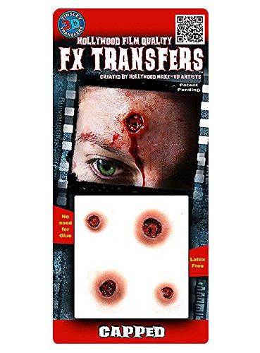 FX Transfers Einschusslöcher Make-Up Set für Halloween, Karneval und (Cowboy Zombie Up Kostüm Make)