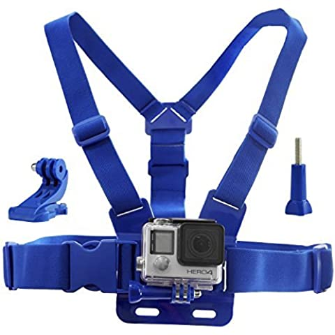 CamKix Arnes de para GoPro / Maletin Ajustable Compatible con GoPro Hero5, Hero4, Hero3+, Hero3, Hero2, and Hero Camara - Tambien Incluye 1 J-Hook, 1 Tornillo Mariposa , 1 CamKix Bolsa de almacenamiento con cordon