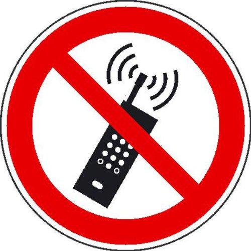 Mobilfunk verboten Verbotsschild, Alu geprägt, Größe 20 cm ¥