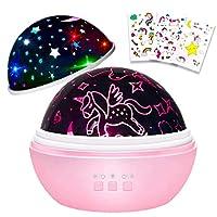 Unicorn Night Light,Girls Night Light,Baby Unicorn,Unicorn Gifts for Girls,Unicorn Toys for Baby Girls,Star Projector for Bedroom Decoration,Baby Comfort lamp