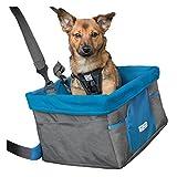 Kurgo Autositz für Hunde, Geeignet für Kleine Hunderassen, Anthrazit, Rover Booster Seat - Heather Pattern, 01724