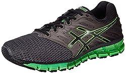 Asics Mens Gel-Quantum 180 2 Carbon, Black and Green Gecko Running Shoes - 6 UK/India (40 EU)(7 US)