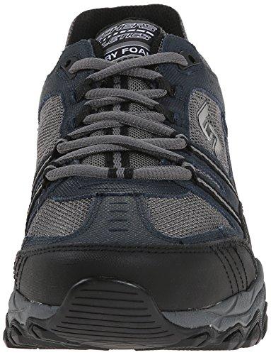 Skechers Sport ¨ Afterburn Grà ve Memory Foam Lace Sneaker Up Blu