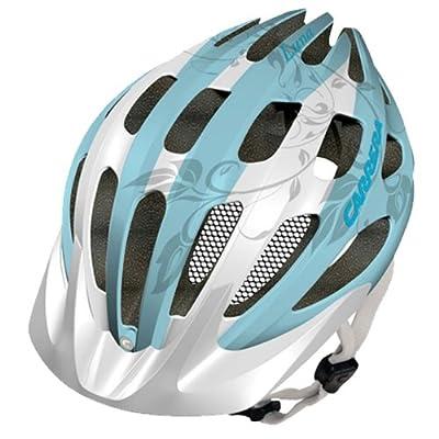 Carrera Luna Womens MTB Helmet - White/Turquoise by Carrera
