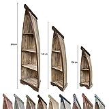 Bootsregal Boot Regal Bücherregal Bücherschrank Standregal Aufbewahrung 104 cm Albesia Holz Braun Dunkelbraun