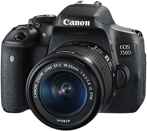 Canon EOS 750D 24.2MP Digital SLR Camera  Black  + 18 55 is STM Lens + Memory Card + Carry Bag DSLR Cameras