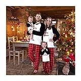 Baywell Weihnachts Schlafanzüge Familie Pyjamas Set Familien Outfit Mutter Vater Kind Baby Nachtwäsche Langarm Homewear Kinder, Papa, XXL/190