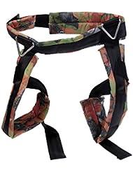 MagiDeal Arnés de Seguridad de Niños para Bungee Deporte de Aire Libre Escalada Equipo de Bien Protección Durable con Cinturon Ajustable Hebillas de Fácil Agarre - Negro
