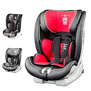 Cozy N Safe Excalibur Group 1-2-3 Child Car Seat - Black/Red Maxi-Cosi Convertible car seat from baby to toddler, suitable from birth up to 4 years (45 - 105 cm) 360° swivel car seat, allows you to get your child in and out the seat in seconds I-size (r129) car seat legislation, because of improved side protection and extended rearward-facing travel 2