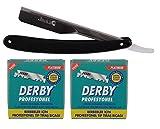 Fonex Rasiermesser Jack mit Schiebefunktion für Wechselklingen (Derby Klingen 2x100 Stück)