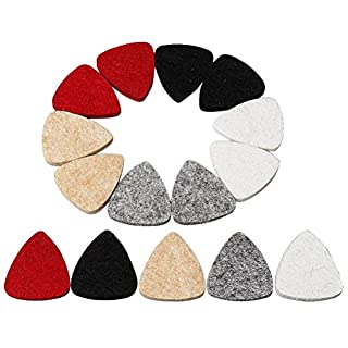 kuou 15 Pcs Guitar Picks, Ukulele Felt Pick Plectrums, Multi-color Ukulele Plectrums For Guitar, Bass