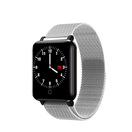 Bearbelly Smart Watch M19 Wasserdicht Bluetooth Herzfrequenz-Blutdruckmessgerät Smart Watch mit Magnetarmband Multi-Modi Sport Fitness Activity Tracker Schrittzähler Smart Watch-Armband