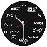 DW&HX Mathe-wanduhr, Einzigartige wanduhr Jede Stunde, gekennzeichnet durch eine einfache mathematische Gleichung Für klassenzimmer Home Office-Schwarz 30x30cm(11.8X 11.8in)