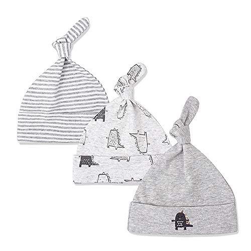 Lacofia Lot de 3 Bonnet de bébé Naissance Chapeau en Coton...