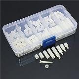 Yongse 120pcs M3 Nylon Hex Verbreiterungen Gewindemutter Sortiment Standoff Zubehör Kit Set