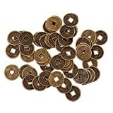Phenovo 50pcs Retro Copper Cash Coins Al...